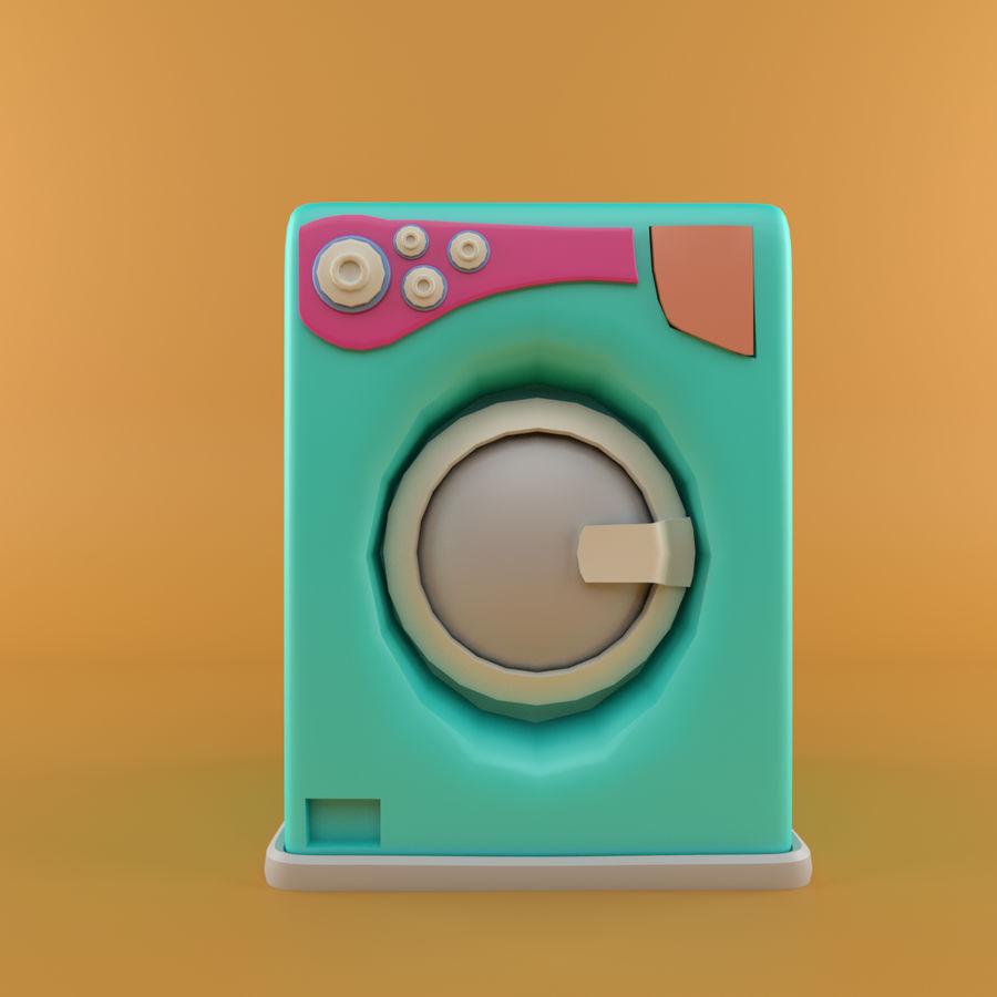 Machine à laver de dessin animé royalty-free 3d model - Preview no. 2