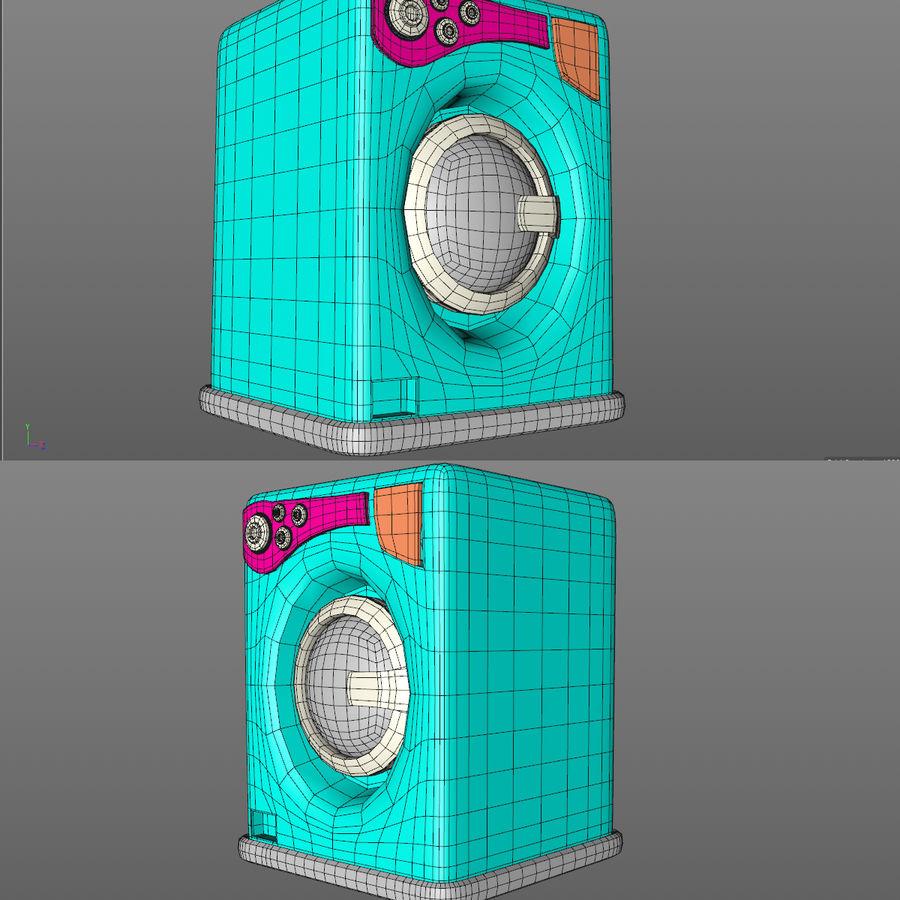 Machine à laver de dessin animé royalty-free 3d model - Preview no. 3