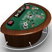 Table de black jack 3d model