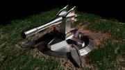 Canhão da Arma da Torre 3d model