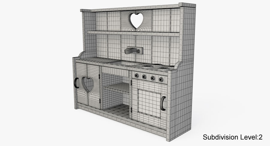 Kitchen Toy royalty-free 3d model - Preview no. 13