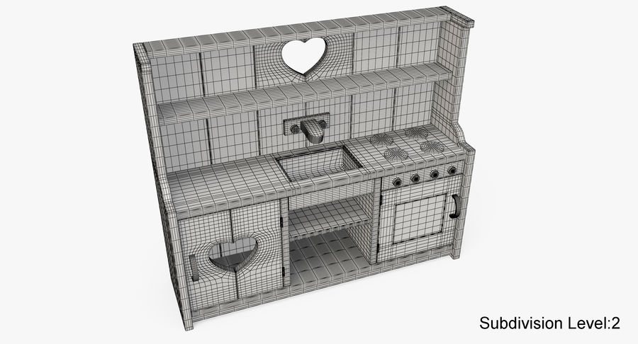Kitchen Toy royalty-free 3d model - Preview no. 17
