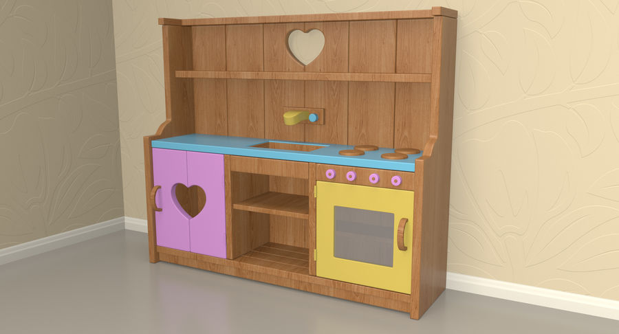 Kitchen Toy royalty-free 3d model - Preview no. 3