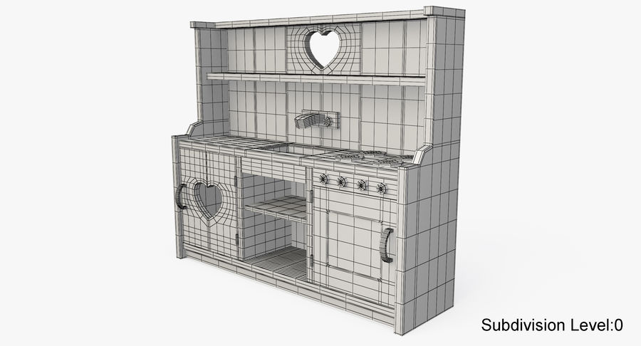 Kitchen Toy royalty-free 3d model - Preview no. 12