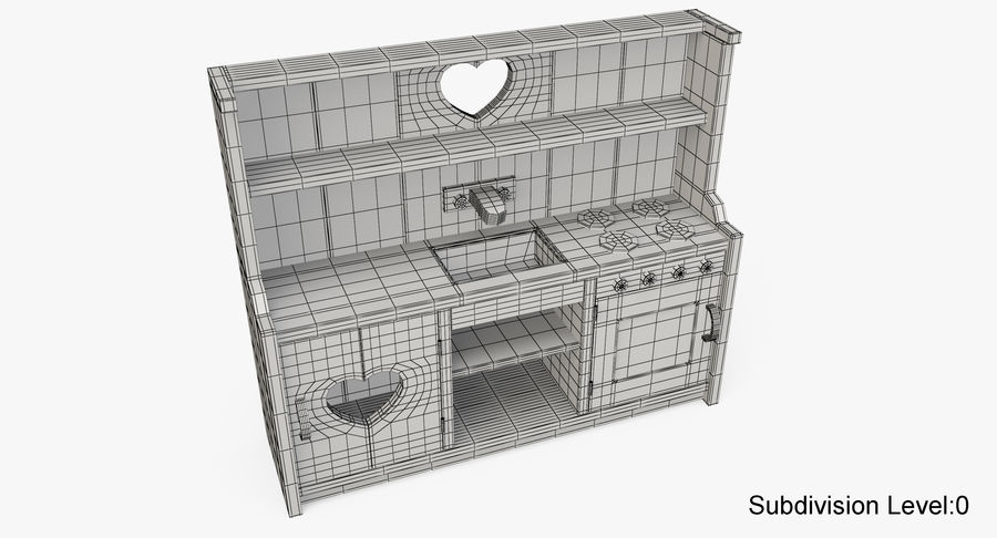 Kitchen Toy royalty-free 3d model - Preview no. 16