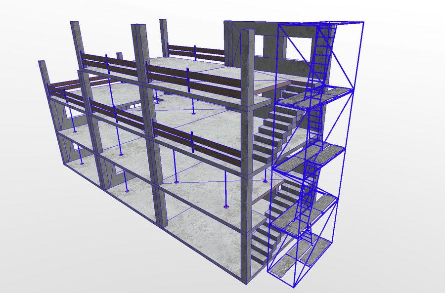 建筑施工元素3d模型 royalty-free 3d model - Preview no. 6