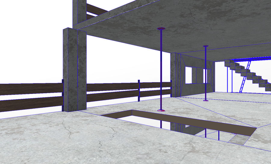 建筑施工元素3d模型 royalty-free 3d model - Preview no. 8