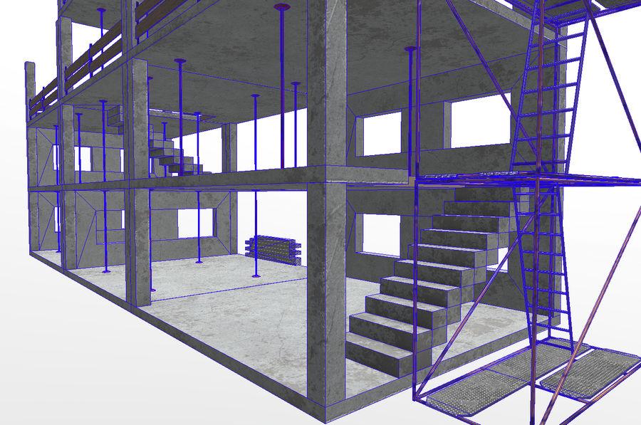 建筑施工元素3d模型 royalty-free 3d model - Preview no. 10