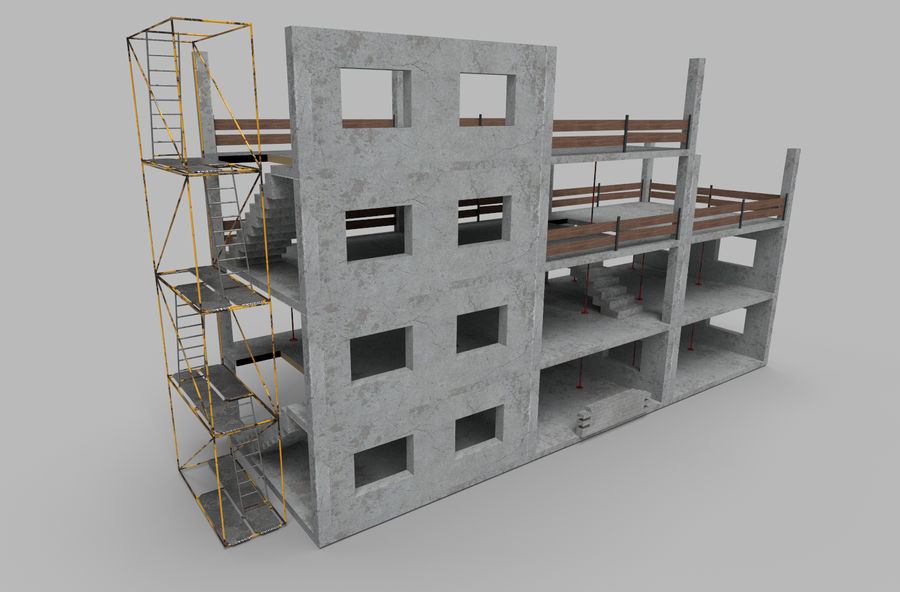 建筑施工元素3d模型 royalty-free 3d model - Preview no. 1