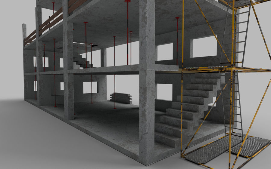 建筑施工元素3d模型 royalty-free 3d model - Preview no. 9