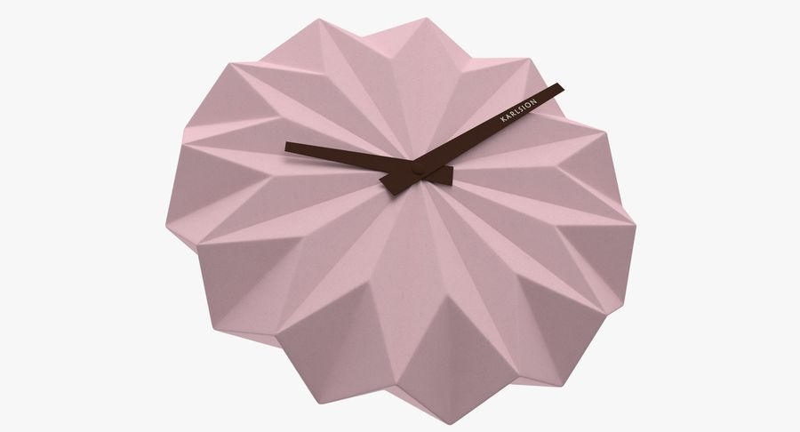 Karlsson Origami Wall Clock royalty-free 3d model - Preview no. 6