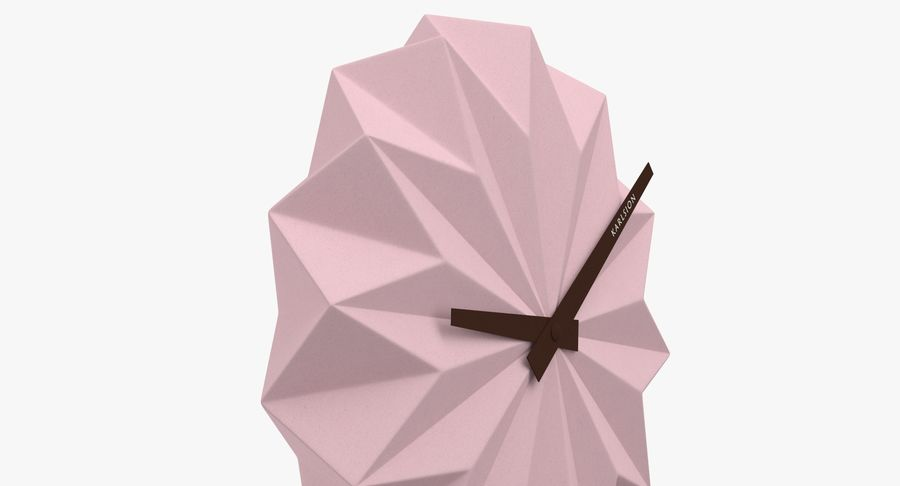 Karlsson Origami Wall Clock royalty-free 3d model - Preview no. 5