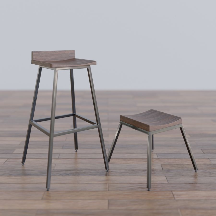 Bar taburesi royalty-free 3d model - Preview no. 2