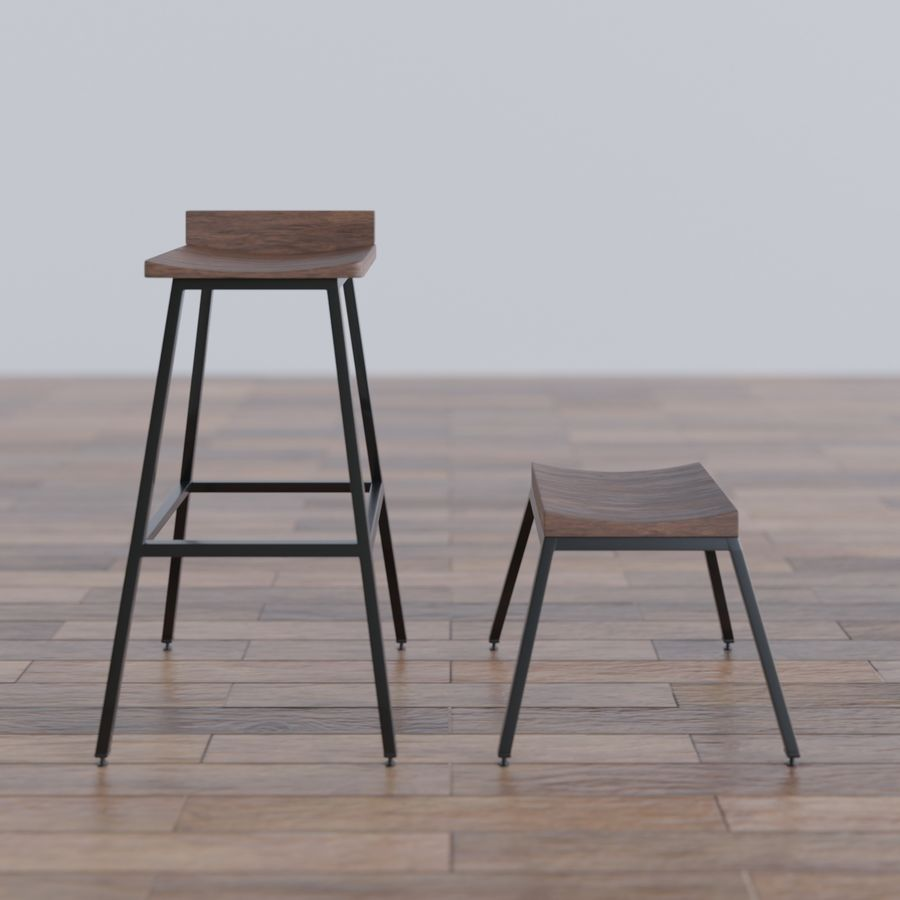 Bar taburesi royalty-free 3d model - Preview no. 1
