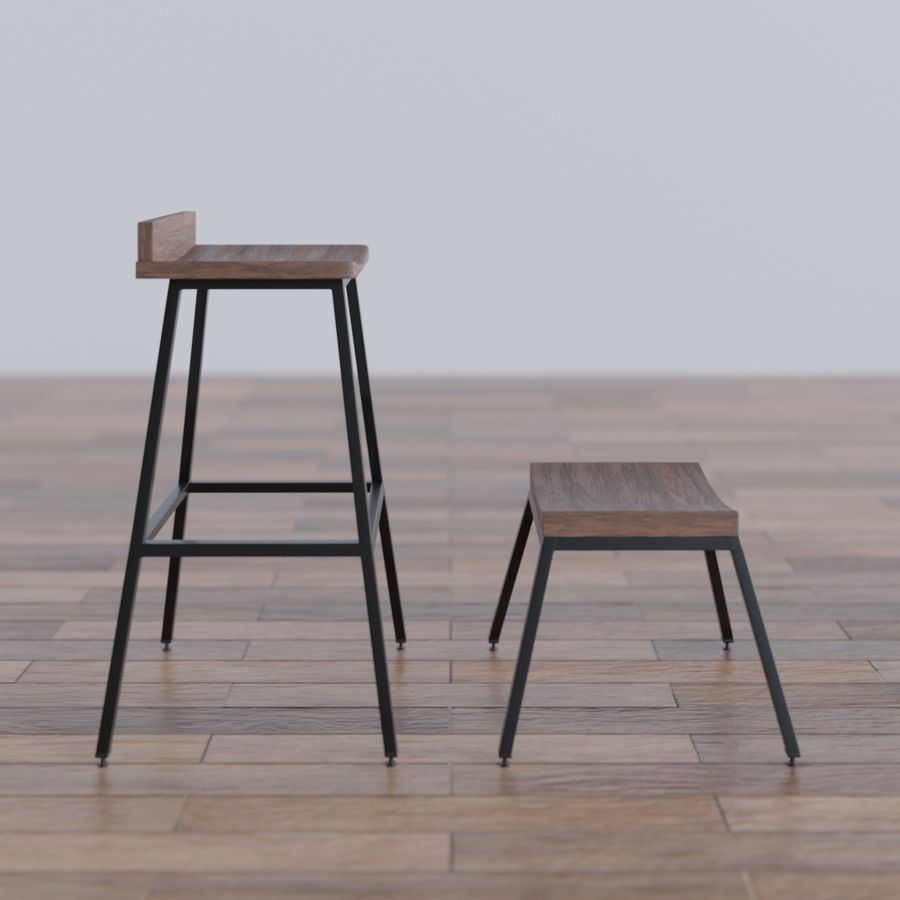 Bar taburesi royalty-free 3d model - Preview no. 3