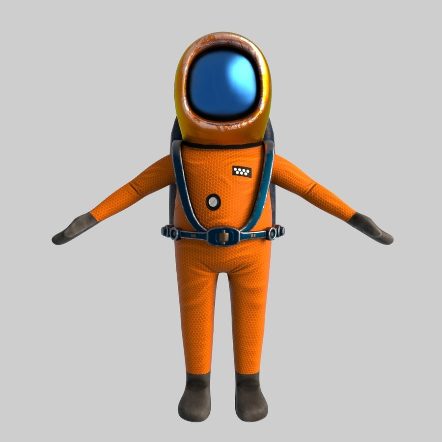 宇宙エンジニア royalty-free 3d model - Preview no. 3