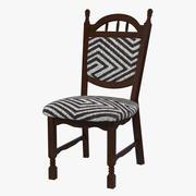Natürlicher Stuhl mit Lack 3d model