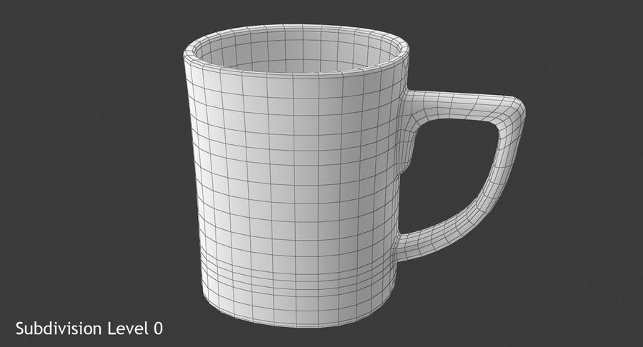 Coffee Cup royalty-free 3d model - Preview no. 10