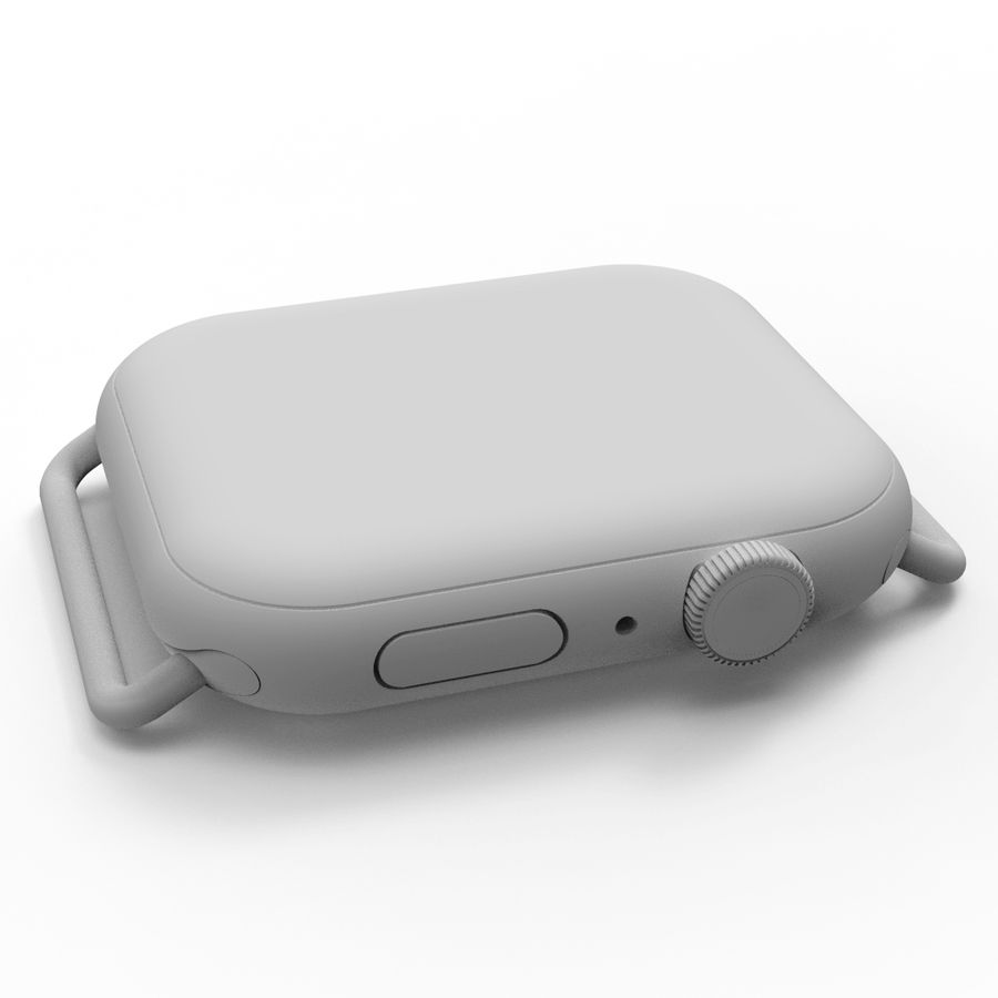 Apple Watch 시리즈 4, 44mm, 실버 royalty-free 3d model - Preview no. 8
