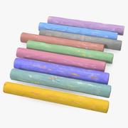 Coloured Playground Chalk 3d model