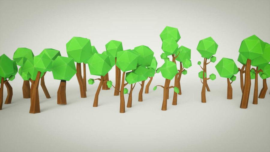 Pakiet leśnych drzew kreskówek royalty-free 3d model - Preview no. 6