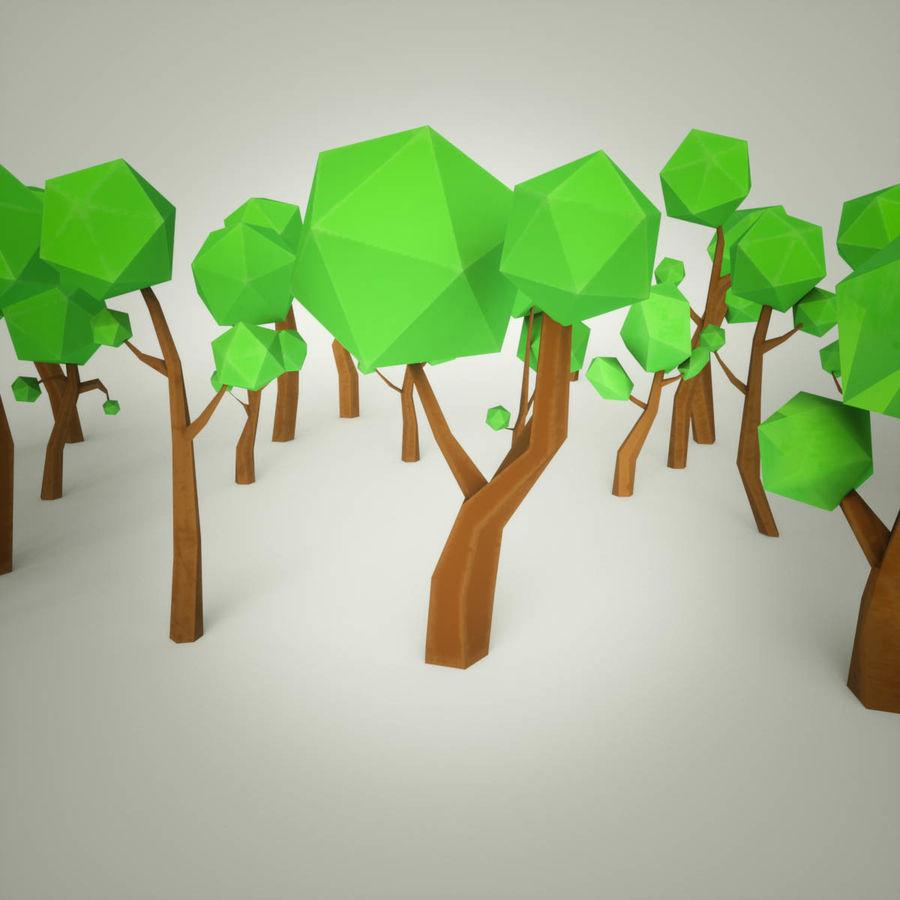 Pakiet leśnych drzew kreskówek royalty-free 3d model - Preview no. 2
