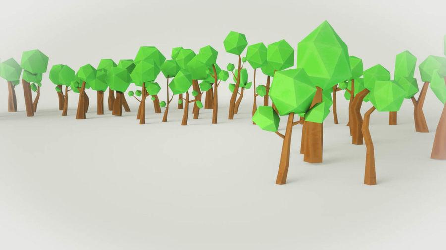 Pakiet leśnych drzew kreskówek royalty-free 3d model - Preview no. 5
