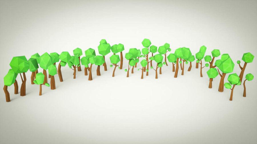 Pakiet leśnych drzew kreskówek royalty-free 3d model - Preview no. 3