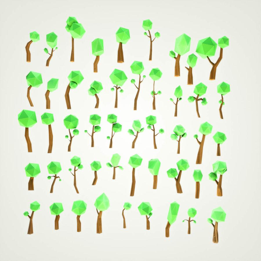 Pakiet leśnych drzew kreskówek royalty-free 3d model - Preview no. 1