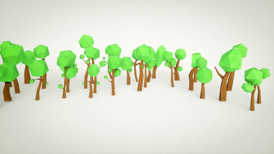 Pakiet leśnych drzew kreskówek royalty-free 3d model - Preview no. 4