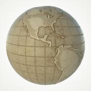 Mapa świata 3d model