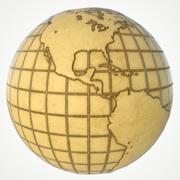 지구 지구본 세계지도 3d model