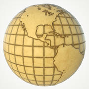 Globe terrestre carte du monde 3d model