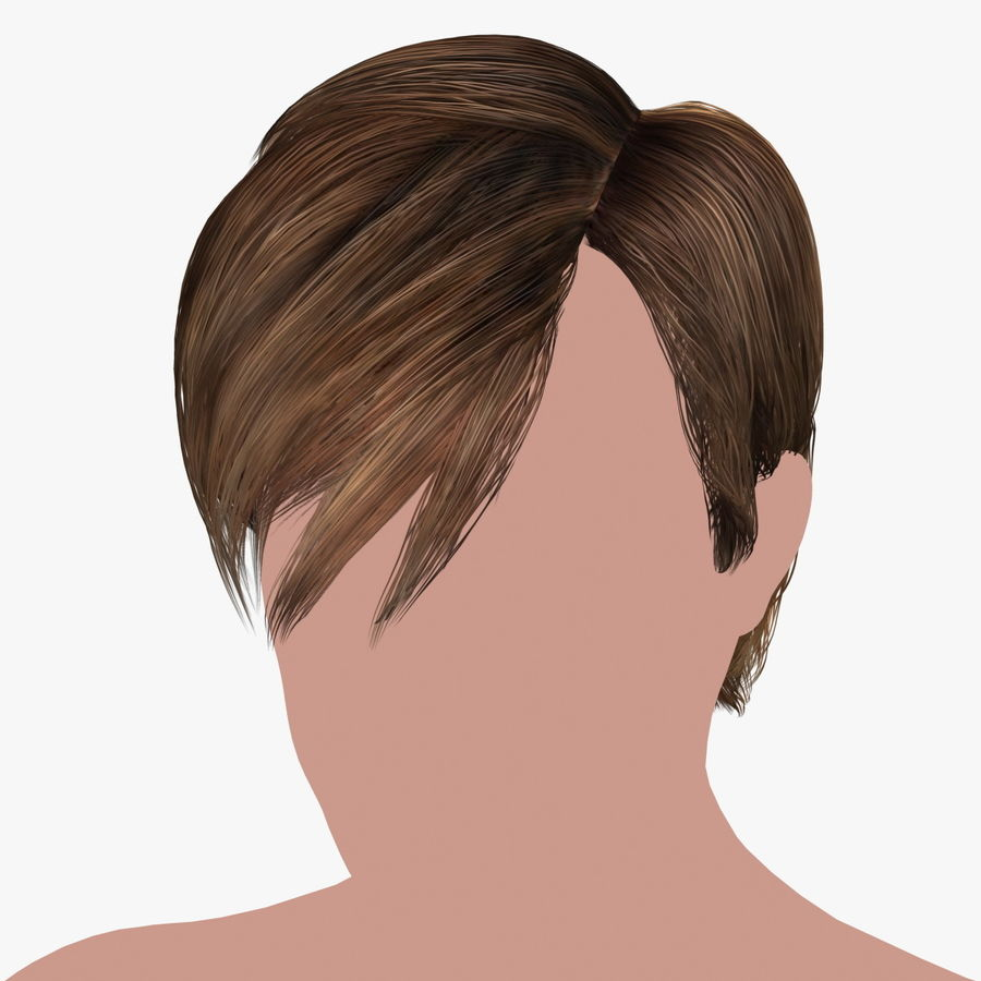 Hairstyle 21 royalty-free 3d model - Preview no. 1
