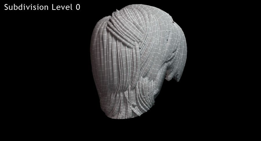 Hairstyle 21 royalty-free 3d model - Preview no. 19