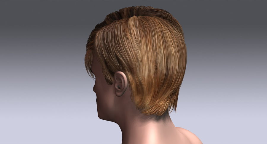 Hairstyle 21 royalty-free 3d model - Preview no. 10