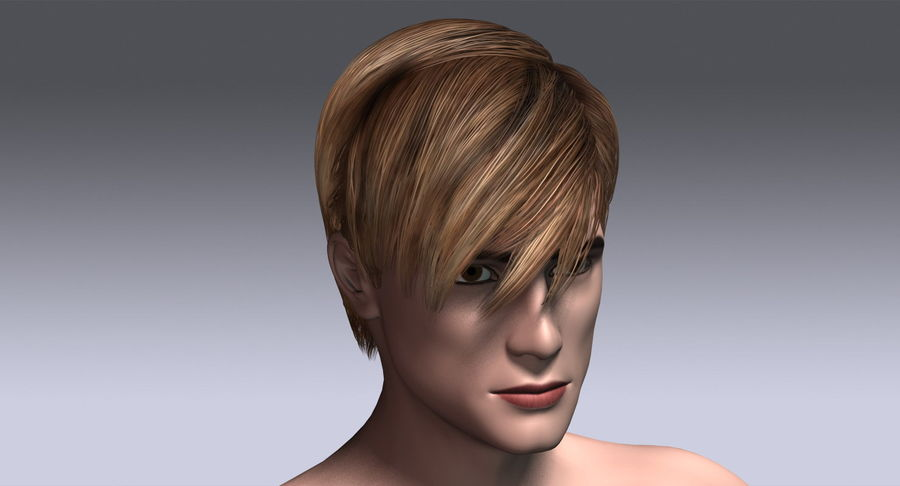Hairstyle 21 royalty-free 3d model - Preview no. 6