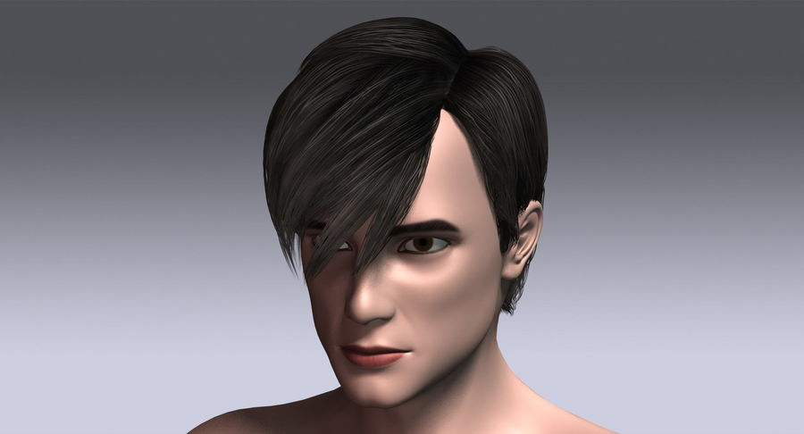 Hairstyle 21 royalty-free 3d model - Preview no. 14
