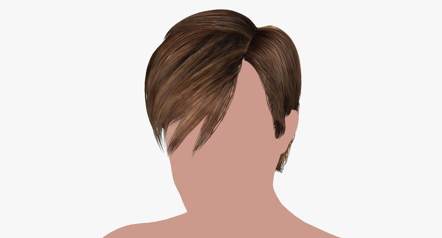 Hairstyle 21 royalty-free 3d model - Preview no. 2