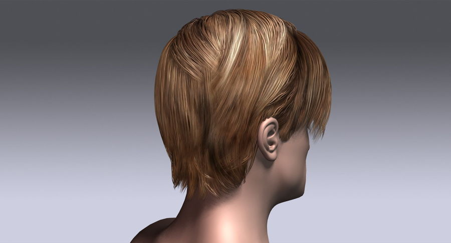 Hairstyle 21 royalty-free 3d model - Preview no. 8