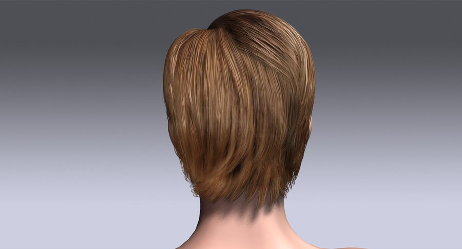 Hairstyle 21 royalty-free 3d model - Preview no. 9