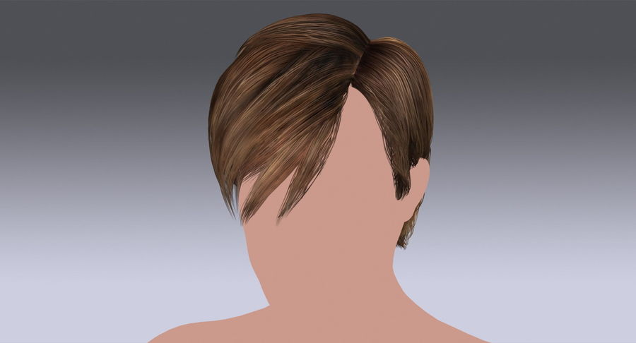 Hairstyle 21 royalty-free 3d model - Preview no. 3