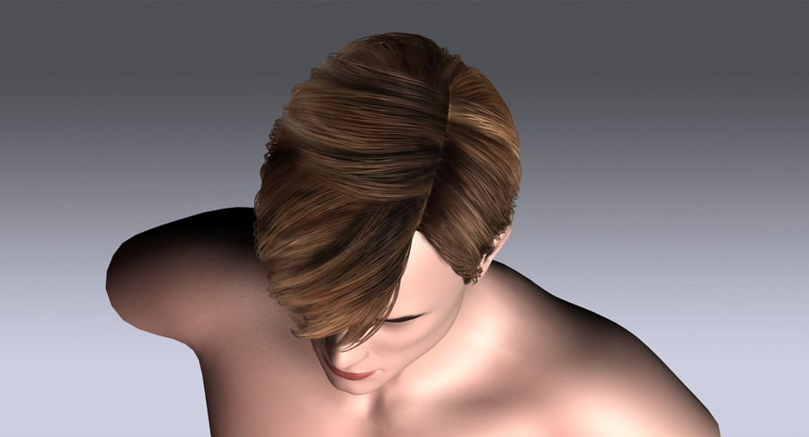 Hairstyle 21 royalty-free 3d model - Preview no. 12
