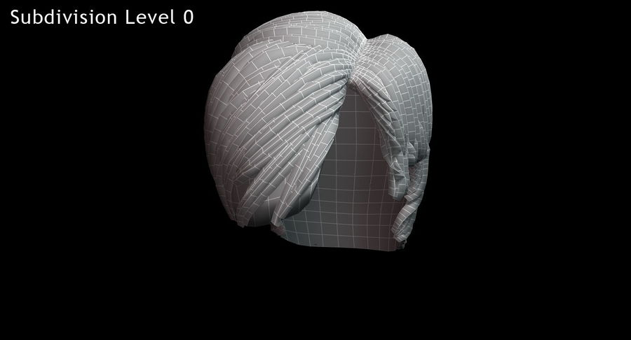 Hairstyle 21 royalty-free 3d model - Preview no. 17
