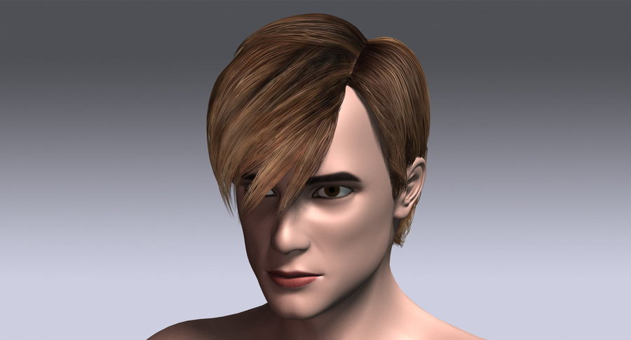 Hairstyle 21 royalty-free 3d model - Preview no. 4