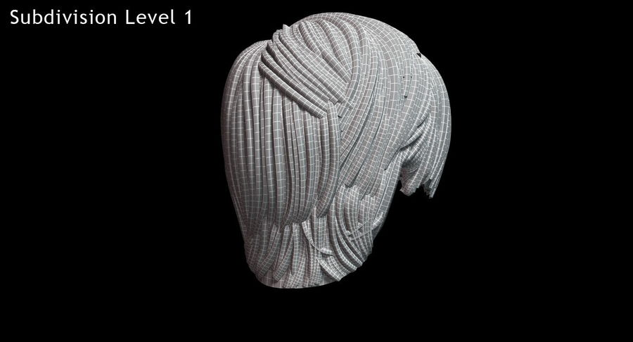 Hairstyle 21 royalty-free 3d model - Preview no. 20