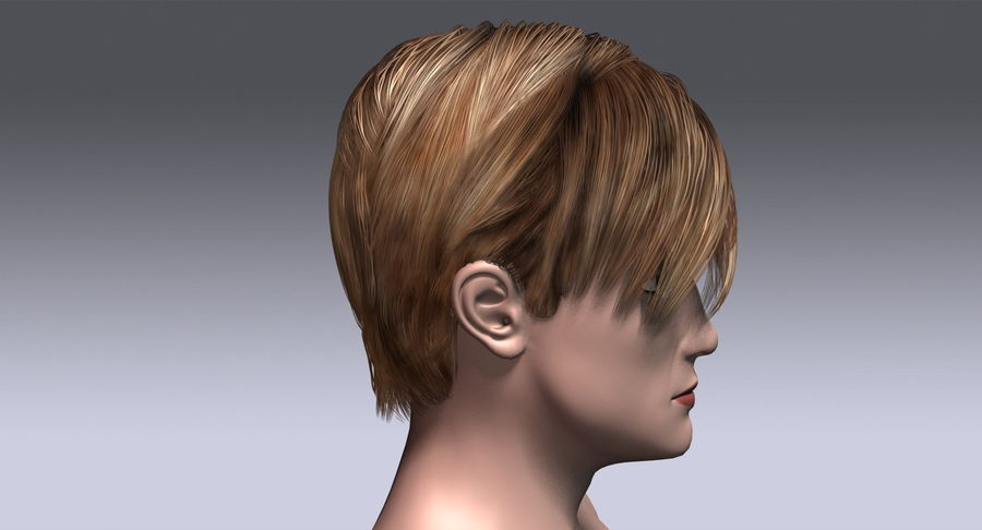 Hairstyle 21 royalty-free 3d model - Preview no. 7