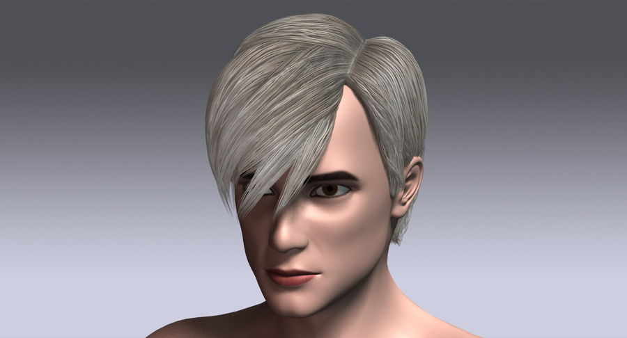Hairstyle 21 royalty-free 3d model - Preview no. 16