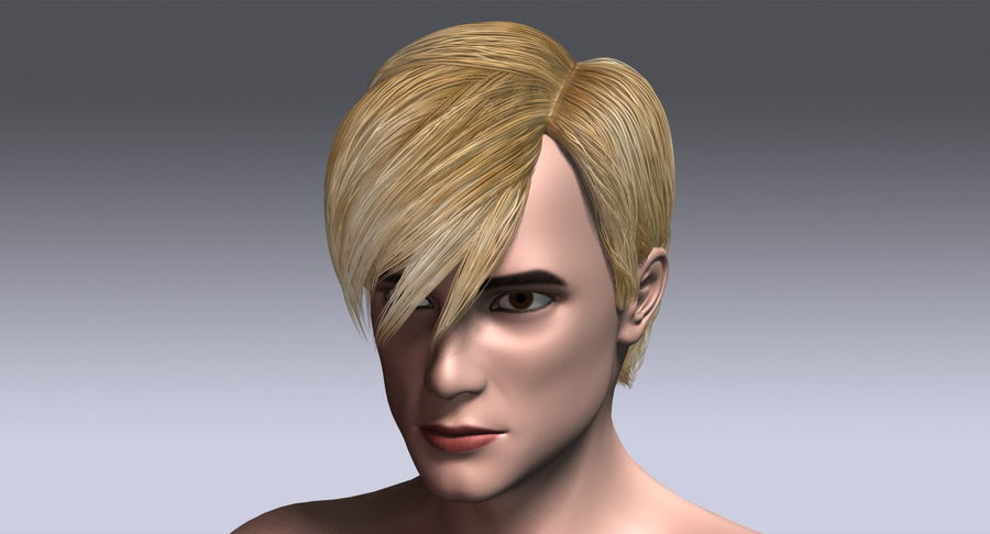Hairstyle 21 royalty-free 3d model - Preview no. 15