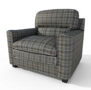Szkocka rozkładana sofa fotel Low Poly 3d model